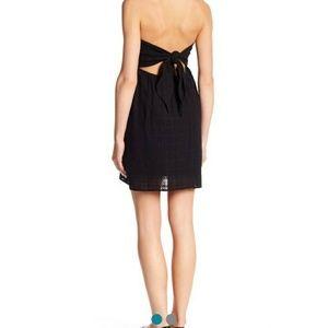 $55 Socialite Strapless Tie Back Dress Black White